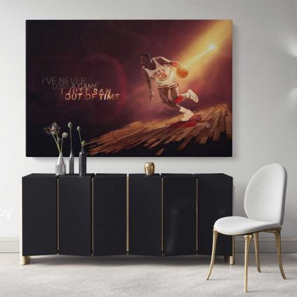 Michael Jordan Quote Basketball Player Canvas with Frame / Rolled Kids Gaming Zone Modern Wall Art Mural Hangings Gift Sports Print Poster