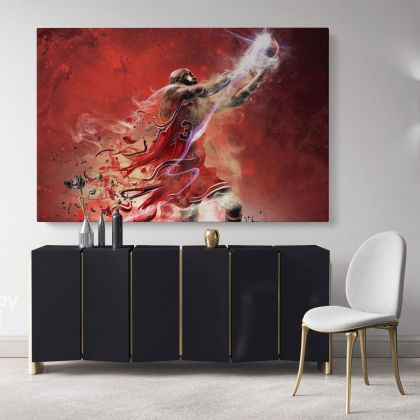 Michael Jordan Basketball Player Canvas with Frame/Rolled Kids Gaming Zone Modern Home Decor Wall Art Mural Hanging Gift Sports Print Poster