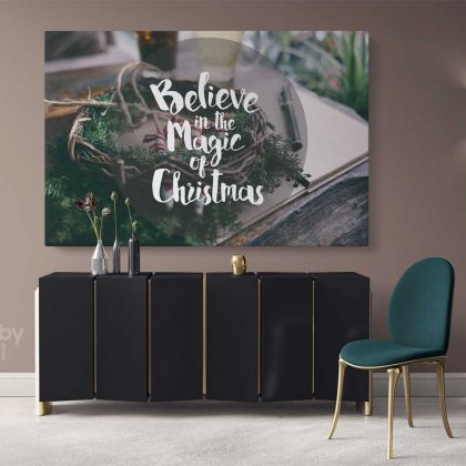Believe in the Magic of Christmas Wall Art Print Painting On Framed Canvas