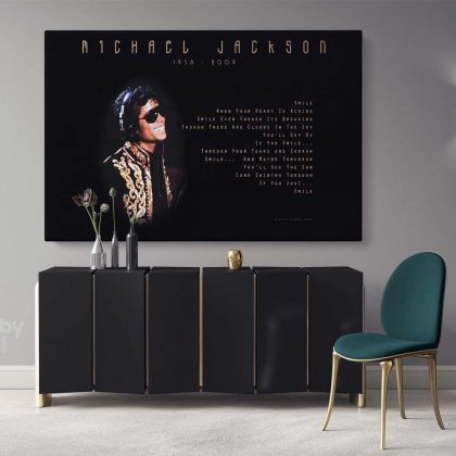 Michael Jackson King of Pop Quote Personalised For Wall Art Print Poster Framed Canvas