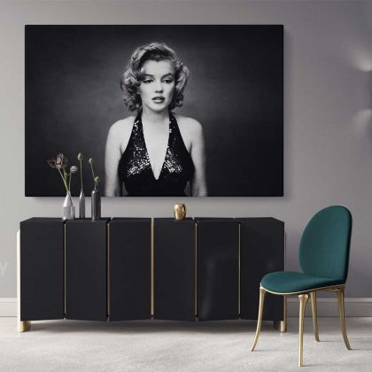Marilyn Monroe Naked Canvas American Model Wall Artwork Hangings Pop Sexy in Bed Nude Full Body Young Picture Costume