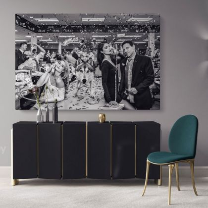 Wolf of the Street Leonardo Dicaprio Movie Wall Art for Home Decoration Living Room Bedroom Wall Mural Canvas Wall Hangings Canvas Movie Artwork