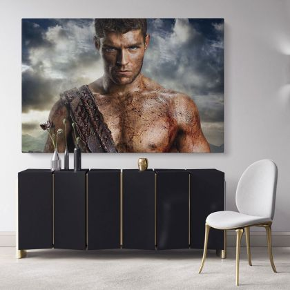 Spartacus Movie Canvas Wall Art Framed Print Poster Kids Gaming Zone / Rolled Canvas, Kids Room Gamer Wall Mural Hangings Gift Home Decor