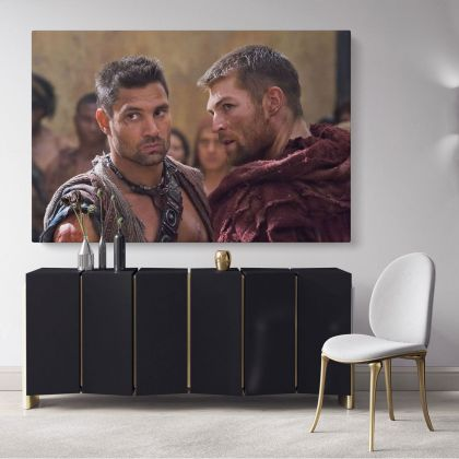 Movie Wall Art Spartacus Canvas Framed Print Poster Kids Gaming Zone / Rolled Canvas, Kids Room Gamer Wall Mural Hangings Gift Home Decor