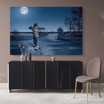 Michael Jackson Pop Singer Moon Walk Canvas Mj Dance Moves Personalised Print Poster Framed Canvas
