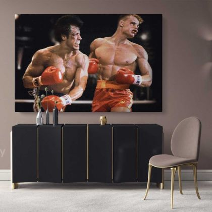 Rocky Balboa Art Canvas Rocky IV Balboa Best Boxing Movie Art Poster Printed Picture Wall Art Decoration Canvas Wall Mural Hangings Gift