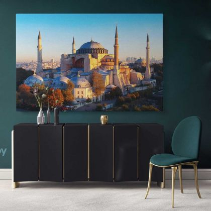 Mosque Canvas Hagia Sophia in Istanbul, Turkey Wall Artwork Print Photo Poster Canvas Wall Mural Hangings Gifts Home Decoration Islamic Art