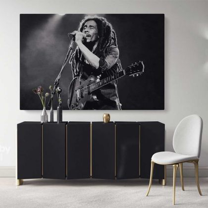Bob Marley Art Canvas Bob Marley Positive Quotes Art Canvas Poster Printed Picture Wall Art Decoration Jamaican Singer Ready to Hang Gifts