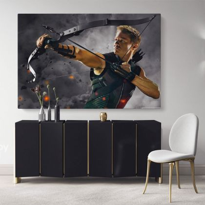 Hawkeye Avengers Poster Marvel Comics Superhero Movie Illustration Giclee Print Poster Cotton Canvas / Rolled, Wall Art Mural Hangings Gifts