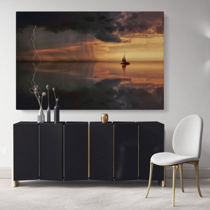 Boat Scenery Photo Print Posters on Canvas with Frame or Rolled Canvas Home Decoration Wall Mural Hangings Gifts Bedroom Marine Canvas
