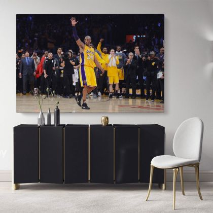Kobe Bryant Basketball Player Last Game Mamba Mentality Canvas Photo Print Poster Canvas Home Decoration Sports Wall Art Mural Hangings Gift