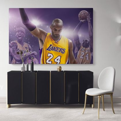 Kobe Bryant Basketball Player Mamba Mentality Last Game Motivational Quotes Photo Print Poster Home Decor Sports Wall Art Mural Hanging Gift
