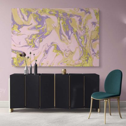 Marble Art Rose Gold Marble Abstract Art Large Marble Canvas with Frame Print Poster Living Room Bedroom Mural Gift Wall Hanging