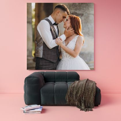 Personalized Canvas Square Size Family Poster Custom For Wedding Gift