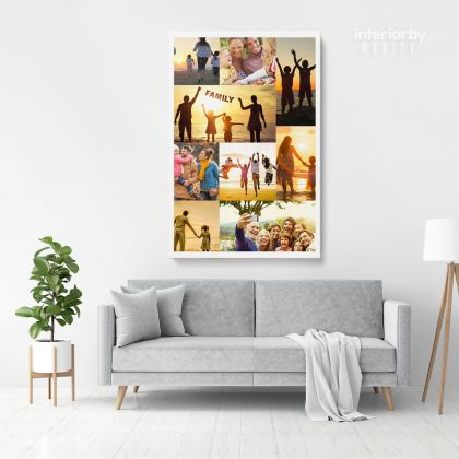 Personalised Collage Canvas Different Sizes Custom Photo Canvas Montage Framed Print Poster