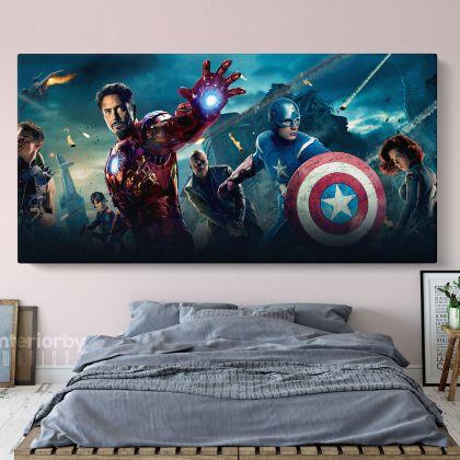 Marvel Avengers Superhero Canvas Childrens Bedroom Canvas
