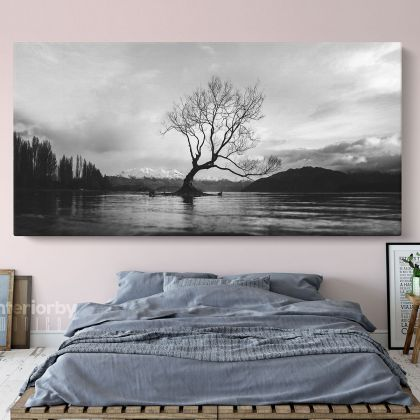 Panoramic Black and White Photography Canvas Wall Artwork Scenery Print Poster Living Room ation Bedroom Wall Hangings Mural Gift