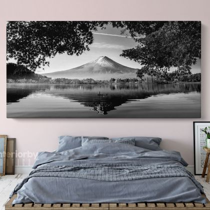 Panoramic Black and White Photography Printed Canvas Wall Artwork
