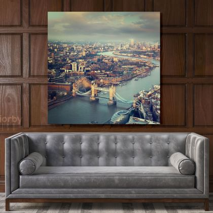 Thames River England Photography Poster Print Canvas with Frame