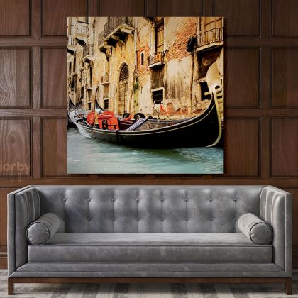 Iconic Italy Honeymoon Charme Poster Print Canvas with Frame