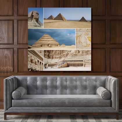 Mortuary Temple Hatshepsut Egypt Poster Print Canvas with Frame