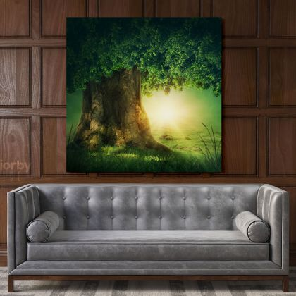 Forest Tree of Life Fantasy Wall Art Canvas with Frame
