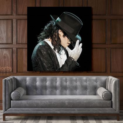 Michael Jackson King of Pop Quote Canvas Mj Dance Moves Wall Art Print Poster Framed Canvas For Home Decor