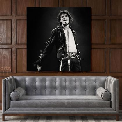 Michael Jackson King of Pop Quote Canvas Mj Dance Moves Wall Art Print Poster Framed Canvas