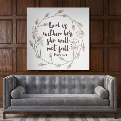 Holy Bible Verse Art Canvas Office Canvas