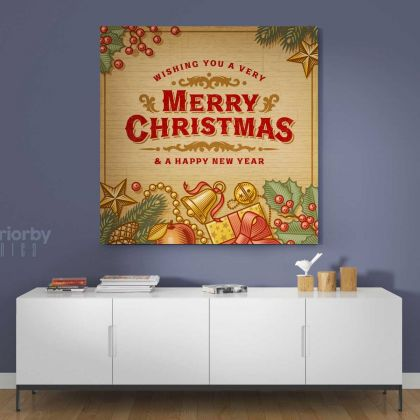 Merry Christmas Greeting Gift Print Painting Framed Canvas Rolled Bedroom