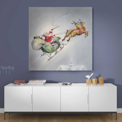 Merry Christmas Greeting Gifts Print Painting Framed Canvas