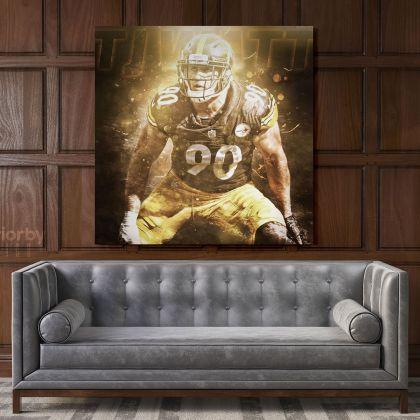 T. J. Watt Pittsburgh Poster Steelers Poster Football Canvas