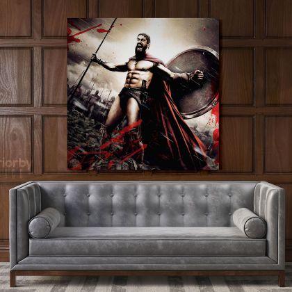 Spartan Soldier Gamer Movie Art Modern Abstract Gaming Zone Warrior Poster Print Canvas