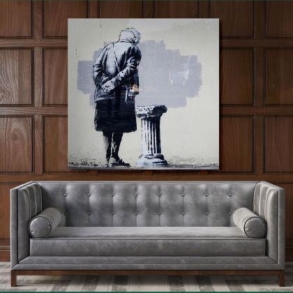 Folkestone Art Buff Banksy Style Street Graffiti Art Collection Canvas