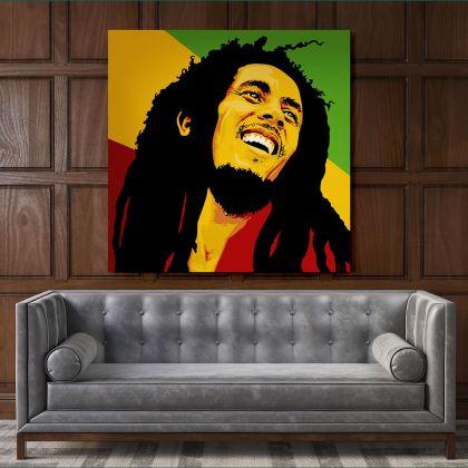 Bob Marley Artwork Painting Poster Print Canvas Bob Marley Art Canvas