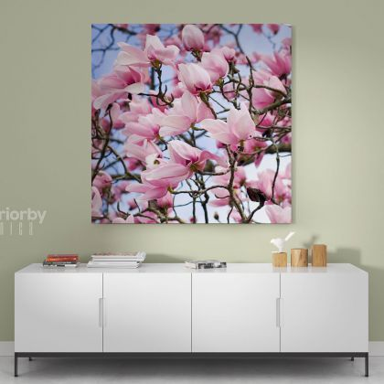Pink Magnolia Flower Canvas Print Poster Floral Wall Art Wall Hangings Floral ation Living Room Wife Gifts Magnolia Flower Photo