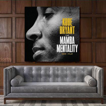 Mamba Mentality Motivational Quote Kobe Bryant Photo Print on Canvas