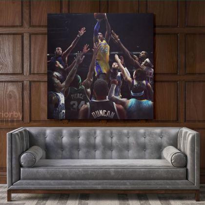 Kobe Bryant Photo Print on Canvas Wall Hangings