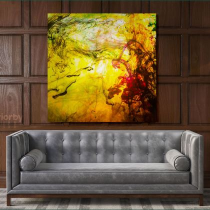 Modern Abstract Canvas Acrylic Colors And Ink In Water Art Canvas with Frame Poster Print Home Decor Living Dining Modern Wall Hangings Gift