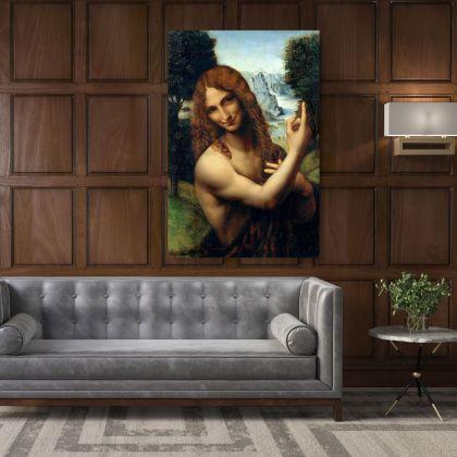 Famous Gian Giacomo Caprotti Painting by Leonardo Da Vinci Photo Print on Canvas Home Decoration Wall Posters Mural Hangings