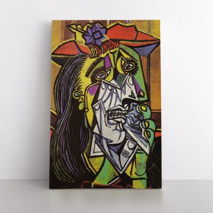 Pablo Picasso: Weeping Woman Artistic Famous Painting Photo Print on Canvas Wall Posters