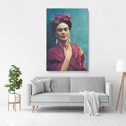Self-Portrait Frida Con Amigos High-Quality Print Canvas, Gifts for Feminist, Artistic Retro Wall, Women Empowerment, Wall Art Home Decor, Black & White Photography