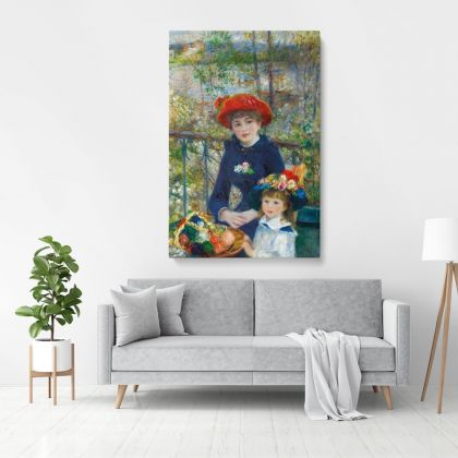 Sisters Oil Canvas Pierre Auguste Renoir Art Institute Photo Print on Canvas, Wall Art Home Decor, Wall Hangings
