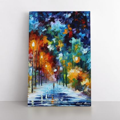 Romantic Winter Palette Knife Art Oil Painting by Leonid Afremov Photo Print on Canvas with Frame Home Decor