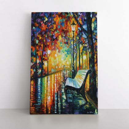 """Palette Knife Art """"She Left"""" Oil Painting by Leonid Afremov Photo Print Canvas with Frame Home Decor Wall Mural"""
