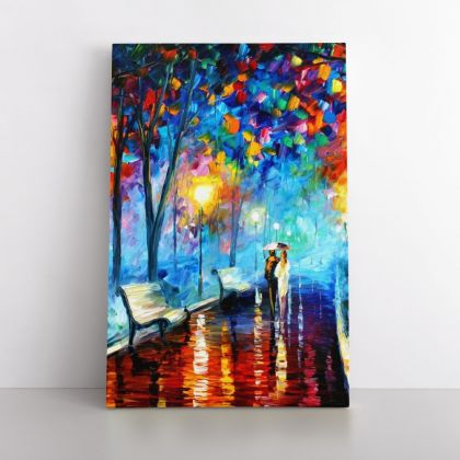 Palette Knife Art Misty Mood Night Oil Painting by Leonid Afremov Photo Print Canvas Home Decoration Wall Mural