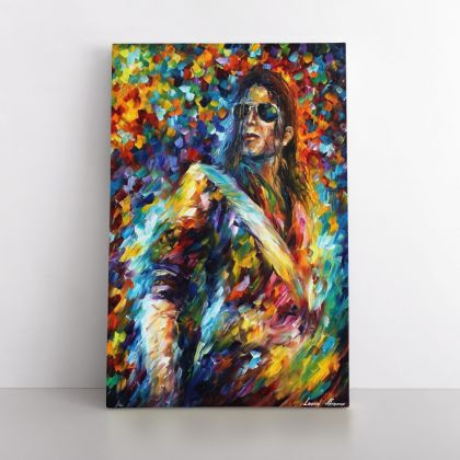 Michael Jackson Palette Knife Art Oil Painting by Leonid Afremov Photo Print on Canvas Wall Mural Hanging Gift