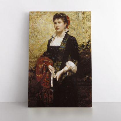 Henryk Hector Siemiradzki: Marie Lubomirska Photo Print on Canvas