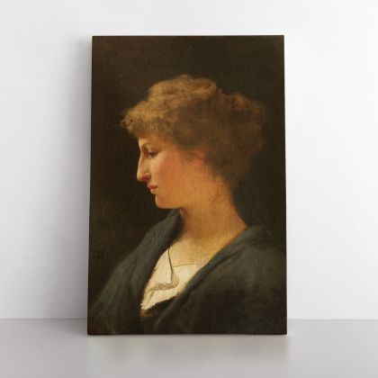 Portrait of a Women Painting by Henryk Hector Siemiradzki Print on Canvas