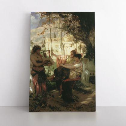 Henryk Hector Siemiradzki Painting Slave Girl Photo Print on Canvas